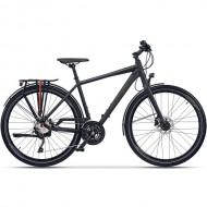 "Bicicleta CROSS Quest Man 28"" gri/negru/portocaliu 55 cm"