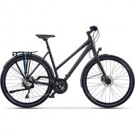 """Bicicleta CROSS Quest Lady 28"""" gri/negru/albastru 45 cm"""