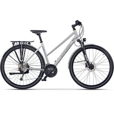 "Bicicleta CROSS Legend Lady 28"" alb/gri 44 cm"