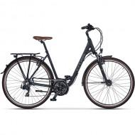 "Bicicleta CROSS Arena Low Step 28"" negru/maro 50 cm"