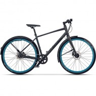 "Bicicleta CROSS Traffic Urban 28"" gri/albastru 53 cm"