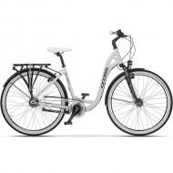 """Bicicleta CROSS Cierra City 28"""" alb/negru 43 cm"""