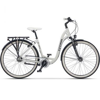 """Bicicleta CROSS Cierra City 28"""" alb/negru 53 cm"""