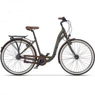 "Bicicleta CROSS Riviera City 28"" maro/verde 43 cm"