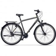 "Bicicleta CROSS Prolog IGH 28"" gri/negru/galben 50 cm"