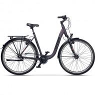 """Bicicleta CROSS Prolog IGH LS 28"""" mov/portocaliu 45 cm"""