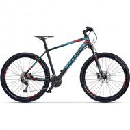 "Bicicleta CROSS Fusion Man 29"" negru/albastru/rosu 54 cm"