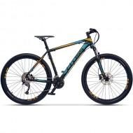 "Bicicleta CROSS GRX 9 DB 27.5"" negru/albastru/ galben 41 cm"