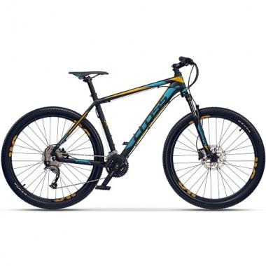 "Bicicleta CROSS GRX 9 DB 27.5"" negru/albastru/galben 46 cm"