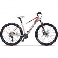 "Bicicleta CROSS Fusion Lady 27.5"" alb/mov/rosu 40 cm"