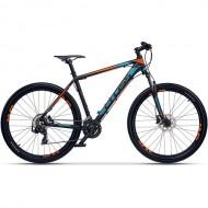 "Bicicleta CROSS GRX 7 DB 27.5"" negru/albastru/ portocaliu 41 cm"