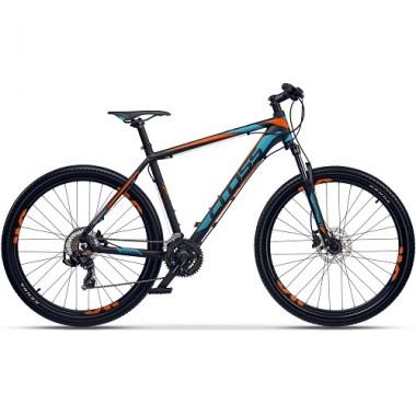 "Bicicleta CROSS GRX 7 DB 27.5"" negru/albastru/portocaliu 46 cm"