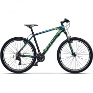 "Bicicleta CROSS GRX 7 VB 27.5"" negru/albastru/ verde 46 cm"