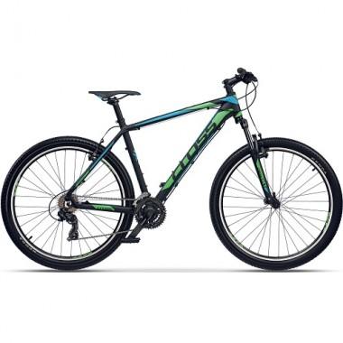 "Bicicleta CROSS GRX 7 VB 29"" negru/albastru/ verde 46 cm"