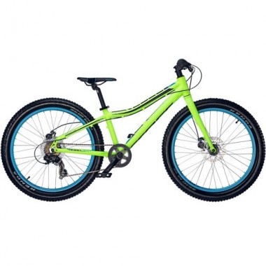 "Bicicleta CROSS Rebel Boy 24"" verde/albastru 31 cm"