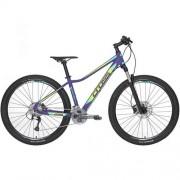 "Bicicleta CROSS Causa SL5 27.5"" mov/galben/verde/ albastru 44 cm"