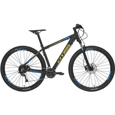 "Bicicleta CROSS Traction SL9 29"" negru/albastru/galben 46 cm"