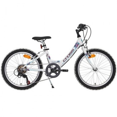 "Bicicleta CROSS Alissa 20"" alb/albastru"