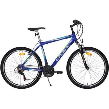 """Bicicleta CROSS Sprinter 26"""" albastru/alb/verde 48 cm"""