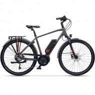 """Bicicleta E-Bike CROSS V-Tron Man E-Trekking 28"""" gri/rosu 48 cm"""