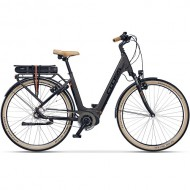 "Bicicleta E-Bike CROSS Elegra LS E-City 28"" maro/negru 45 cm"