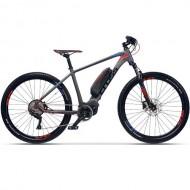 """Bicicleta E-Bike CROSS Quantum 29"""" gri/albastru/rosu 51 cm"""