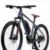 """Bicicleta E-Bike CROSS Quantum 29"""" gri/albastru/rosu 46 cm"""