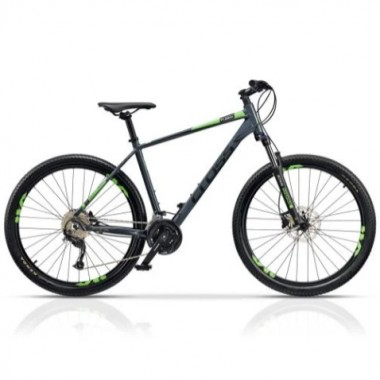 "Bicicleta CROSS Fusion 9 27.5"" gri/negru/verde 50 cm"