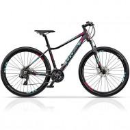 """Bicicleta CROSS Causa SL1 27.5"""" negru/albastru/roz 44 cm"""