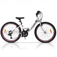"Bicicleta CROSS Alissa 24"" alb"
