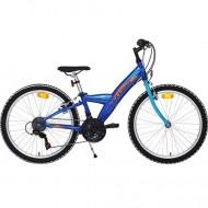 "Bicicleta CROSS Rocky 24"" albastru"