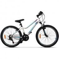 "Bicicleta CROSS Daisy 24"" Alb/Albastru/Mov"