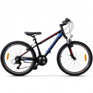 "Bicicleta CROSS Boxer 24"" Negru/Albastru/Rosu"