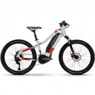 "Bicicleta E-Bike HAIBIKE HardFour 1.0 24"" 2021 gri/rosu XS"