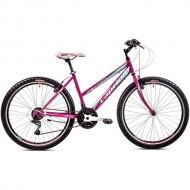 "Bicicleta CAPRIOLO Passion Lady 26"" mov/albastru 17"""