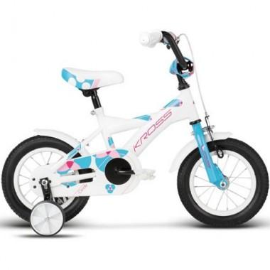 "Bicicleta KROSS Cindy 10"" alb/albastru/roz"