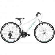 "Bicicleta KROSS Evado JR 1.0 26"" alb/turcoaz 34 cm"