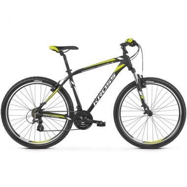 "Bicicleta KROSS Hexagon 2.0 V-brake 27.5"" negru/alb/galben M"