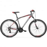 "Bicicleta KROSS Hexagon 2.0 V-brake 27.5"" gri/alb/rosu M"