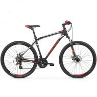 "Bicicleta KROSS Hexagon 3.0 26"" negru/alb/rosu S"