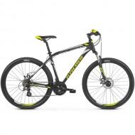 "Bicicleta KROSS Hexagon 3.0 26"" negru/alb/galben S"