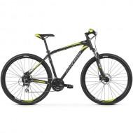 "Bicicleta KROSS Hexagon 5.0 27.5"" negru/gri/galben S"