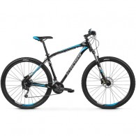 "Bicicleta KROSS 2019 Hexagon 7.0 27.5"" negru/gri/albastru S"