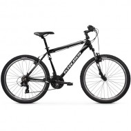 "Bicicleta KROSS Hexagon V-brake 26"" negru/alb/gri 20 M"