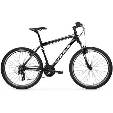 """Bicicleta KROSS Hexagon V-brake 26"""" negru/alb/gri 20 XS"""