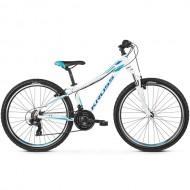 """Bicicleta KROSS Lea 1.0 V-brake 26"""" alb/albastru M"""