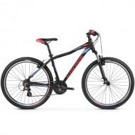 "Bicicleta KROSS 2019 Lea 2.0 V-brake 26"" negru/albastru/rosu XS"