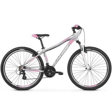 "Bicicleta KROSS Lea 2.0 26"" gri/roz/alb XS"