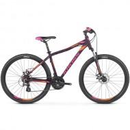 "Bicicleta KROSS Lea 3.0 26"" mov/portocaliu/roz XS"