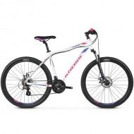 "Bicicleta KROSS Lea 3.0 26"" alb/mov/roz XS"
